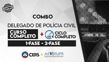 COMBO: CURSO COMPLETO PARA DELEGADO DA POLÍCIA CIVIL - 2020 + CICLO COMPLETO - DELEGADO DE POLÍCIA CIVIL 2020