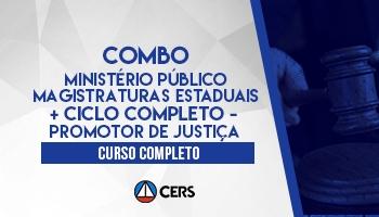 COMBO: CURSO COMPLETO PARA O MINISTÉRIO PÚBLICO E MAGISTRATURA ESTADUAIS 2020 + CICLO COMPLETO - PROMOTOR DE JUSTIÇA 2020
