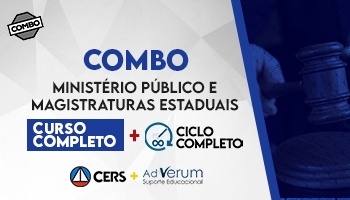 COMBO: CURSO COMPLETO PARA O MINISTÉRIO PÚBLICO E MAGISTRATURA ESTADUAIS 2020 + CICLO COMPLETO - MAGISTRATURA ESTADUAL 2020