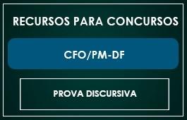 RECURSO PROVA DISCURSIVA CFO PM/DF