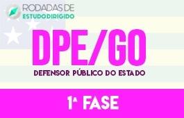 Curso | Rodadas de Estudo Dirigido | 1ª Fase | Concurso | Defensor Público do Estado de Goiás (DPE/GO)