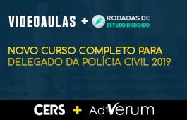 COMBO: NOVO CURSO COMPLETO PARA DELEGADO DA POLÍCIA CIVIL 2019 + RODADAS DE ESTUDO DIRIGIDO PARA DELEGADO DA POLÍCIA CIVIL