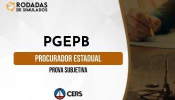 Curso   Concurso PGE PB   Procurador do Estado da Paraíba   Prova Subjetiva   Rodadas de Simulados
