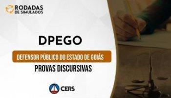 Curso | Concurso DPEGO | Defensor Público de Goiás | Provas Discursivas | Rodadas de Simulados