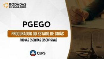 Curso | Concurso PGEGO | Procuradoria do Estado de Goiás | Provas Escritas Discursivas | Rodadas de Simulados