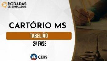 Curso | Concurso Cartório MS | Tabelião | 2ª Fase | Rodadas de Simulados