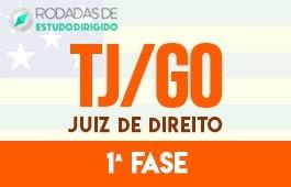 Curso | Rodadas de Estudo Dirigido | 1ª Fase | Concurso | Juiz de Direito do Tribunal de Justiça de Goiás (TJ/GO)