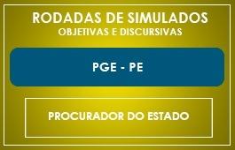 RODADAS DE SIMULADOS - PGE/PE