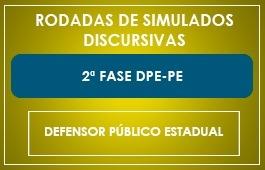 RODADAS DE SIMULADOS – 2ª FASE – DEFENSOR PÚBLICO – DPE/PE