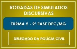 Curso | Rodadas de Simulados | 2ª Fase | Concurso Delegado DPC/MG | Turma 2