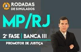 Curso | Rodadas de Simulados | Concurso | Promotor de Justiça do Rio de Janeiro (MP/RJ) | 2ª Fase | Banca III