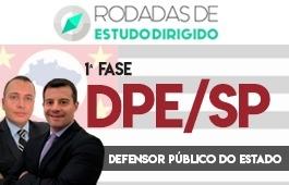 Curso | Rodadas de Estudo Dirigido | 1ª Fase | Concurso | Defensor Público do Estado de São Paulo (DPE/SP)