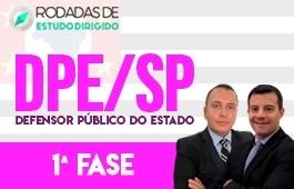 Curso | Rodadas de Estudo Dirigido | 1ª Fase | Concurso | Defensor Público do Estado de São Paulo (DPE/SP) | Edital
