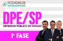 Curso | Rodadas de Estudo Dirigido | 1ª Fase | Concurso Defensor Público do Estado de São Paulo (DPE/SP)