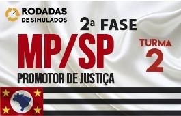 Curso | Concurso | Promotor de Justiça de São Paulo (MP/SP) | 2ª Fase | Rodadas de Simulados | Turma 2