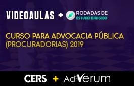COMBO: CURSO PARA ADVOCACIA PÚBLICA (PROCURADORIAS) 2019 + RODADAS DE ESTUDO DIRIGIDO PARA ADVOCACIA PÚBLICA(PROCURADORIAS)