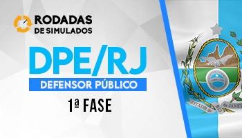 Curso | Concurso DPE RJ | Defensor Público | 1ª Fase | Rodadas de Simulados