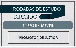Curso | Rodadas de Estudo Dirigido | 1ª Fase - Concurso Promotor de Justiça MP/PB