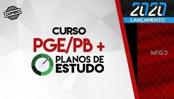 Combo: Curso para o Concurso da PGE/PB (Procurador) + Planos de Estudo