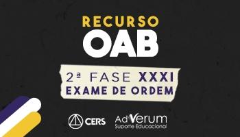 RECURSO 2ª FASE OAB